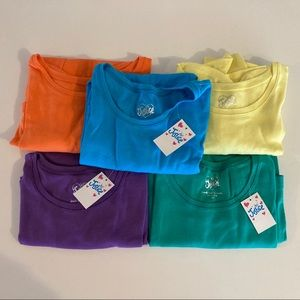 Justice shirts girls size 20 lot of 5 new and used